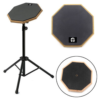 """8"""" Softs Black Dumb Drum Pad Exercise Mat Blow Plate Drummer Rubber Double Sides"""