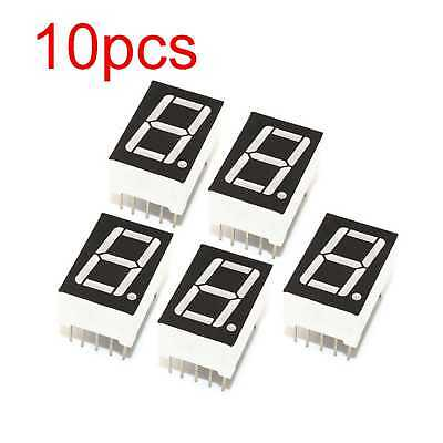 "4pcs 7.6 mm 0.3/"" 0.3 inch 7 Segment Display Yellow LED 1 Digit Common Cathode"