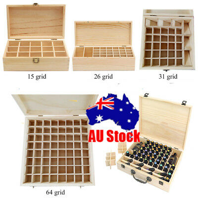 15~70Slot Aromatherapy Essential Oil Storage Box Wooden Case Container Holder AU