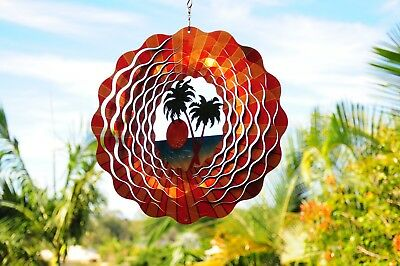 Stainless Steel Wind Spinner - Palm Trees