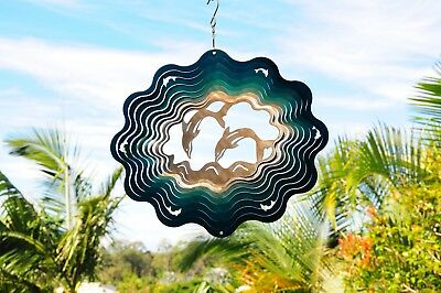 Stainless Steel Wind Spinner - Dolphins