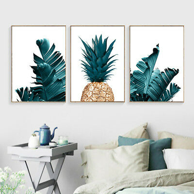 Nordic Pineapple Green Leaves Canvas Wall Painting Poster Home Art Decor Faddish