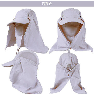 Ear Flap Neck Cover Sun Hat Baseball Military Cap Fishing Hunting Hiking Muti