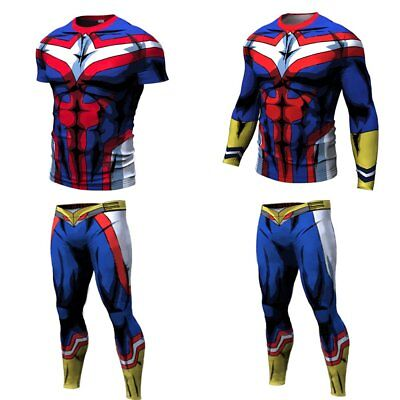 047efc834 Men All Might My Hero Academia T Shirt Tank Top Pant 3D Print Sport Gym  Jersey