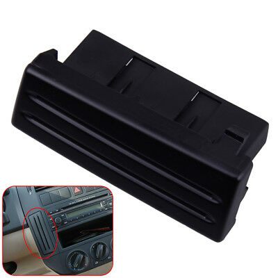 Black Front Console Water Cup Holder & Card Slot for VW Polo 9N 2002-2010