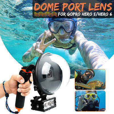Dome Port Underwater Diving Camera Lens Cover for GoPro Hero 5/6 Acrylic Black