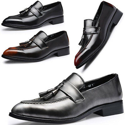 New Mens Casual Formal Tassel Smart Slip On Loafers Mocassin Driving Shoes Size