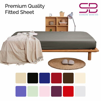 """100% Extra Deep Fitted Sheet Elastic Bed Covers 12""""/30CM Available in UK Sizes"""