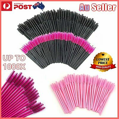 UP TO 1000X Disposable Mascara Wands Eyelash Brush Applicator Extension Brush AU