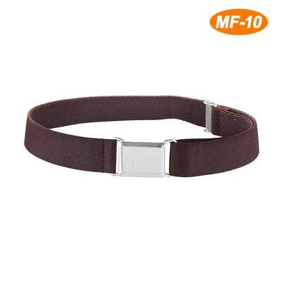 Children Easy Buckle Casual Adjustable Elastic Belt with Solid Color Boys Girls