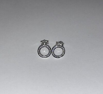 Open Circle Pave Earrings