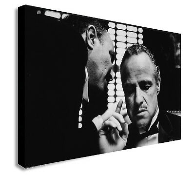 Marlon Brando in The Godfather - Canvas Wall Art Framed Print. Various Sizes