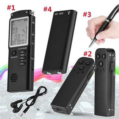 16/8GB Mini Digital Audio Voice Recorder Camcorder Noise Reduction MP3 Player SP