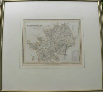 """Antique map """"Herfordshire"""" by J Archer"""