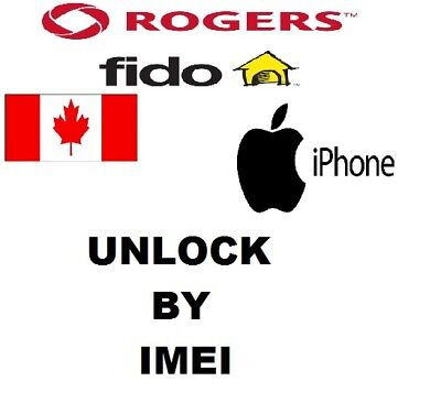 ROGERS FIDO UNLOCK SERVICE For iPHONE 5 5c 5s 6 6s 6+ 6s+ SE 7 7+ 8 8+  ALL IMEI
