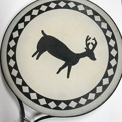 "Remo Paddle Drum Native American Style Painted Pow Wow Indian Drum 14"" dia NICE!"