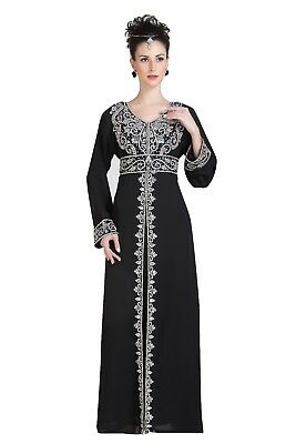 d6fbc6bd488 Dubai Evening Wear Full Length Maxi Dress Home Gown Perfect For Daily Use  6698