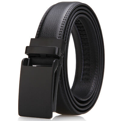 Leather Ratchet Belt for Men Dress with Click Buckle-Trim to Comfort Fit