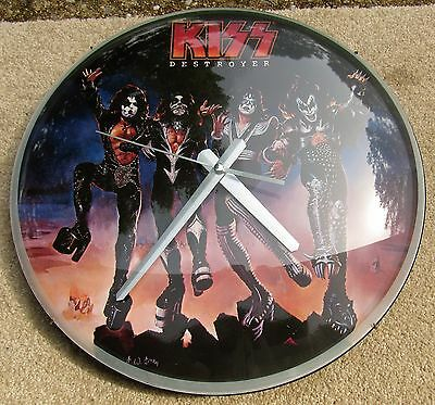 KISS Destroyer 2005 Bubble Clock Exc Cond Hard Rock Metal