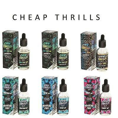 Cheap Thrills Preimum ELiquid Vape Juice 50ml High VG 0mg +/-Nicotine New