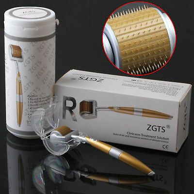 ZGTS Luxury Titanium Micro Needle Therapy Derma Roller Meso Roller Anti-ageing