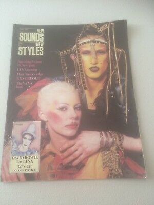 Rare New Sounds New Styles Magazine #1 July 1981 With Free Bowie Poster
