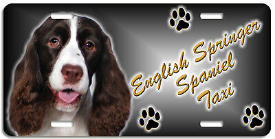English Springer Spaniel 2  Taxi Line License Plate (( LOW CLEARANCE PRICE ))