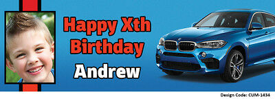 10 Designs! Add Photo /& Name /& Age 24hrs Delivery Ford GT Birthday Banners