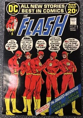 The Flash #217 (1972) Bronze Age Issue Inc Green Lantern / Green Arrow Backup