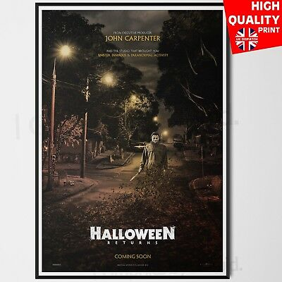 Halloween 2018 Horror Movie Poster Laurie Strode Film Print | A4 A3 A2 A1 |