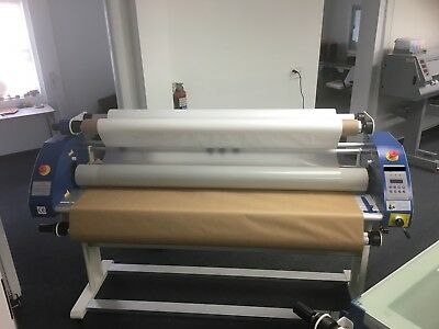 "64"" Full-auto Wide Format Cold Hot Laminator - Roll to Roll with Stand"