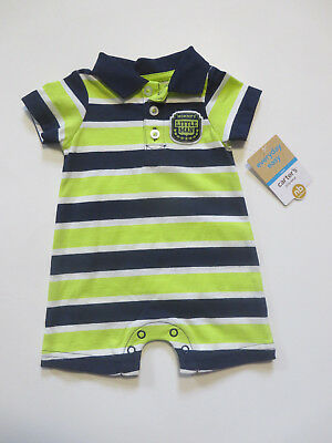 caff04fa5 NWT Carter's Boys sunsuit romper Newborn NB NEW striped summer outfit blue  green
