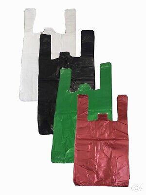 PLASTIC VEST CARRIER BAGS Small Medium Large XL ALL SIZES and Colours