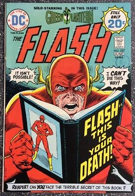 Flash #227 (1974) Bronze Age Issue Inc Green Lantern Backup