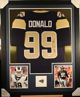9e800eee1 AARON DONALD (LOS ANGELES RAMS) Signed Autographed Framed Jersey w  JSA 3