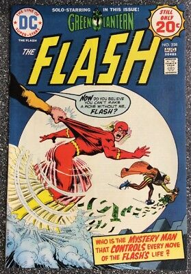 Flash #228 (1974) Bronze Age Issue Inc Green Lantern Backup