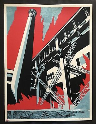 Shepard Fairey Fossil Factory Print Obey Giant Poster Sold Out Mint Kaws Banksy