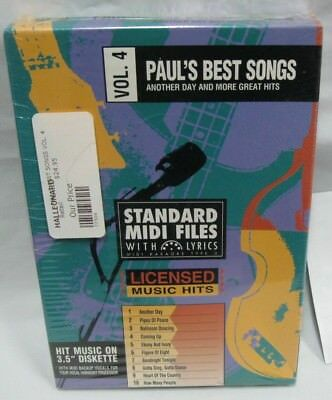 STANDARD MIDI FILES 3.5 DISKETTE SONGS of pauls best songs karaoke midi vol 4