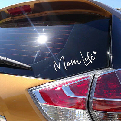 Mom Life Decal Vinyl Sticker Car Bumper DIY Wall Laptop Reflective Silver 7.5 in
