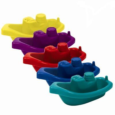 New 5 Pack Baby Kids Infant Bath Tub Play Time Floating Plastic Boats Toys