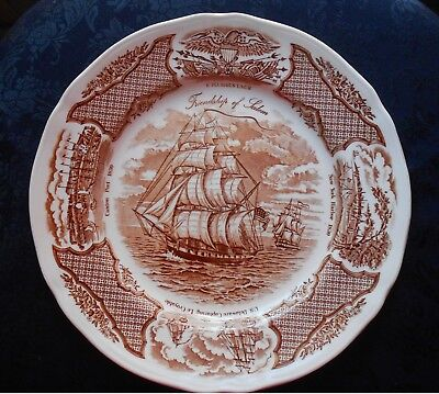 Alred Meakin Fair Winds Dinner Plate The Friendship of Salem England 10 1/2""