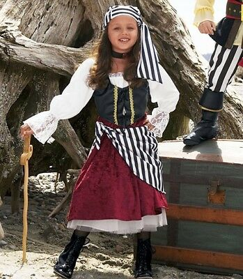 CHASING FIREFLIES PIRATE GIRL COSTUME Size 12 In Character New