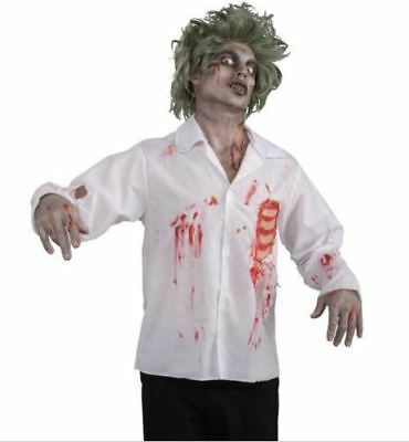 CA61 Burning Dead Burnt Zombie Gory Scary Gloves Mask Mens Halloween Costume