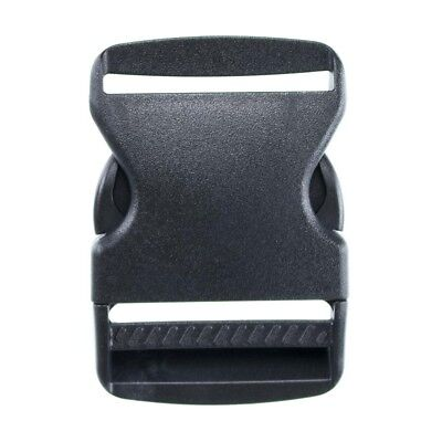 2 Inch Side Release Black Plastic Buckles - Available in Packs of 2, 5, or 10