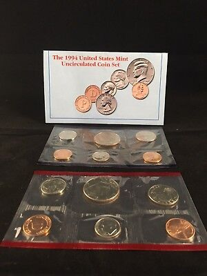 1994 United States Mint Uncirculated Coin Set Philadelphia and Denver Mints