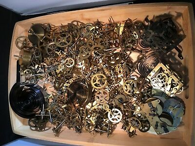Lot of Antique Pocket Watch Clock Parts Movements And More Steam Punk Repairs