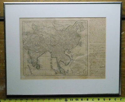 Rare antique map Vaugondy China 1795 Indian Oriental Ocean Presque'Isles L'Inde