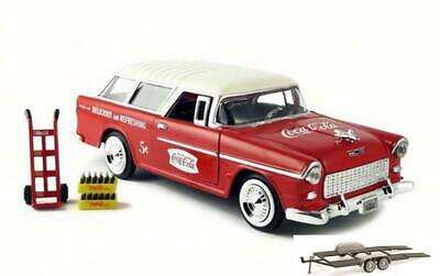 Diecast Car & Trailer 1955 Chevy Bel Air Nomad Wagon Motor City Classics 1/24