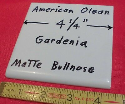 "1 pc. Bullnose Ceramic Tile *Off-White-Gardenia* 4-1/4"" by American Olean  Flat"