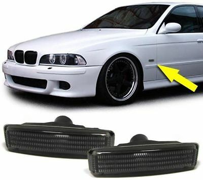 For BMW E39 SMOKED Side Repeaters dark Indicators turn signal signals repeater